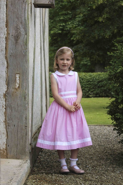 Belgium's Crown Princess Elisabeth, daughter of Crown Prince Philippe and Princess Mathilde, stands in the garden of the Ciergnon Castle.