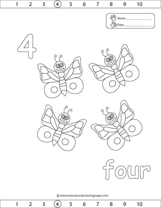 » 123Counting4 Coloring Pages