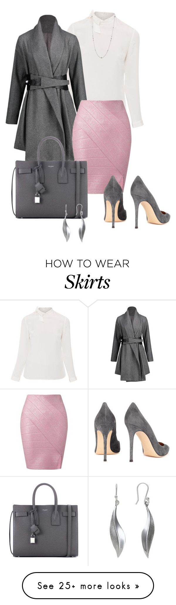 """Touch of Pink"" by ny-silk on Polyvore featuring Goat, Miss Selfridge, Gianvito Rossi, Yves Saint Laurent, Andea and Lois Hill"
