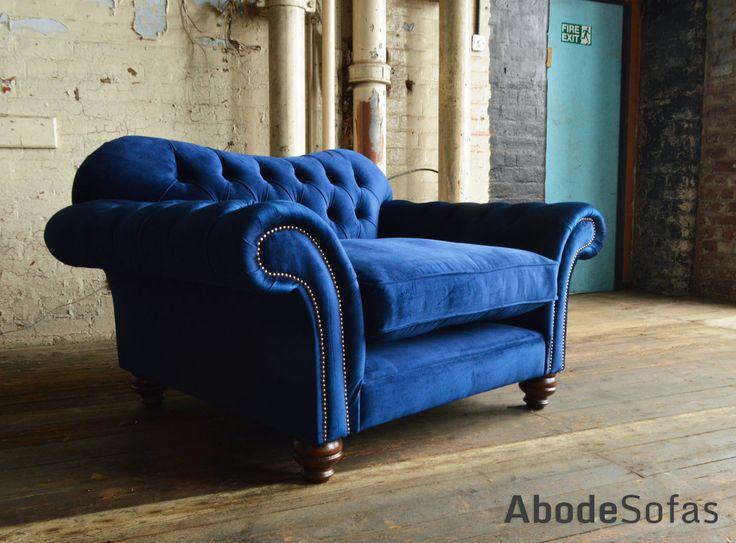 Hammersmith Velvet Chesterfield Snuggle Chair | Abode Sofas
