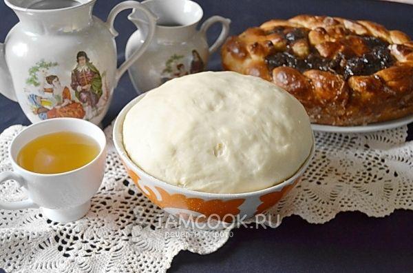 Фото теста на кефире для пирога