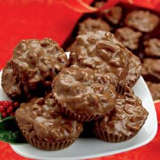 Chocolate Toasted Pecan Cluster ~ Luscious chocolate and freshly toasted pecan pieces are two basic ingredients in every candy kitchen. We combine them both to create these t...