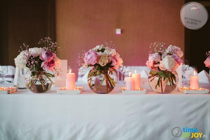 dekoracje ślubne różowe piwonie Warszawa