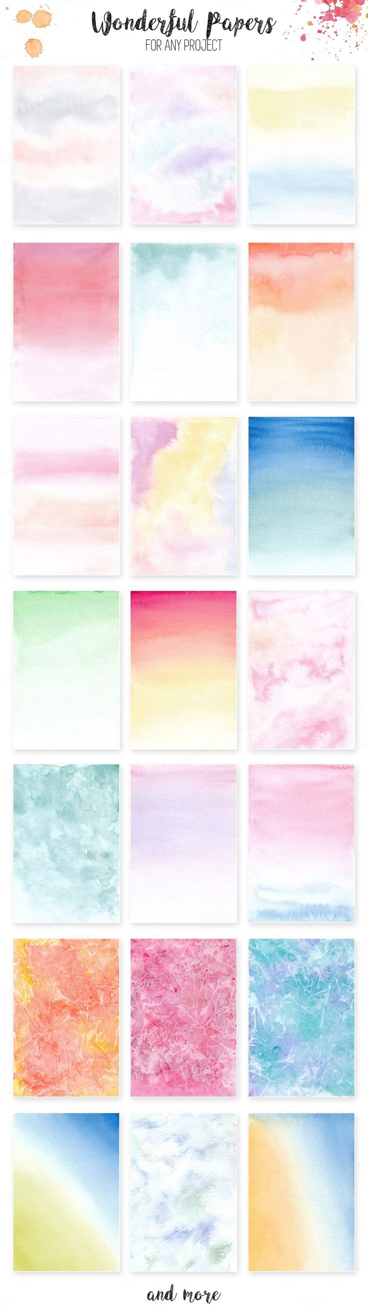 Watercolor Textures. Light & Bright - Textures - 5  #watercolor #watercolour #papers #watercolorpapers #digitalpapers #ombrepapers #scrapbookingpapers #scrapbook #scrapbooking #watercolorwash #clipart #digitalclipart