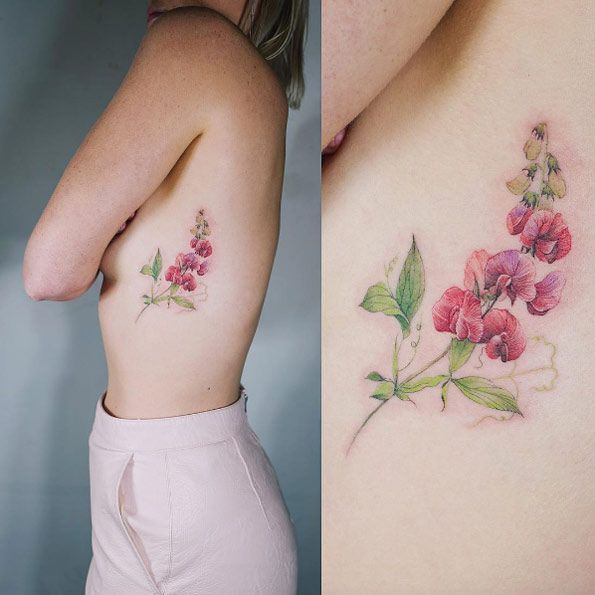 Soft floral rib cage piece by Sol Art