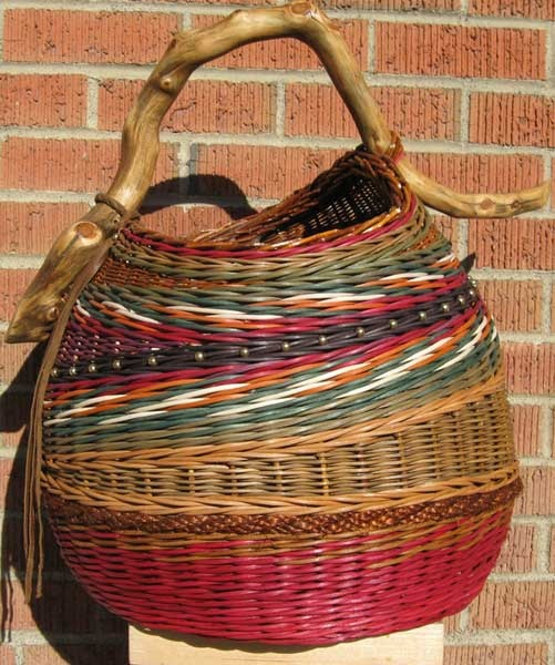 Rattan colored basket