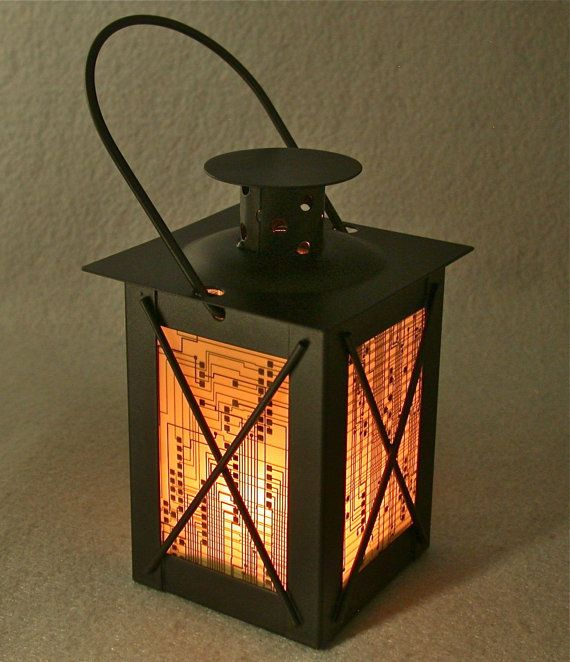 I have this obsession with Etsy, I don't know if you're noticed...: Geek Vintage, Boards Lanterns, Black Metals, Candles Holders, Recycled Circuit, Vintage Black, Boards Creations, Circuit Boards, Lanterns Vintage