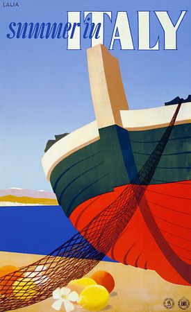 Summer In Italy Vintage Italian Travel Posters Print