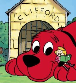 "Clifford the Big Red Dog ""Hi I'm Emily Elizabeth and this is Clifford, my big red dog."" Anyone remember? ^-^"