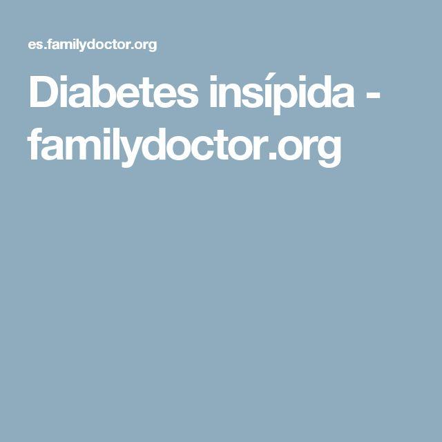 Diabetes insípida - familydoctor.org