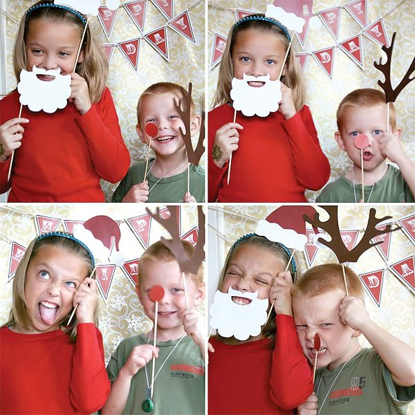 Homemade Holiday Photo Booth----this would be a cute idea for xmas cards!