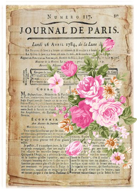 Journal de Paris carta letra postal rosas paris journal de paris