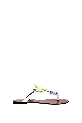 C19242AC2108M180 Dolce&Gabbana Flip Flops Damen Lackleder Weiß - http://on-line-kaufen.de/dolce-gabbana/c19242ac2108m180-dolce-gabbana-flip-flops-damen