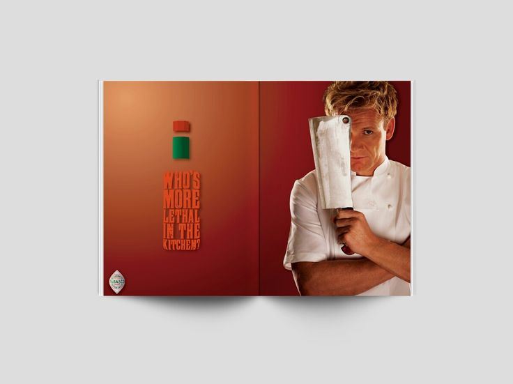 Double page spread magazine ad on Tabasco Sauce, in this assignment, the brief asked to match a suitable personality to compliment a brand. Who better than Gordon Ramsay and Tabasco Sauce?