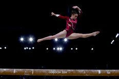 Europe, Day 7, Gymnastics Artistic  Beautiful Splits from one of my favourite gymnasts Ruby Harrold.