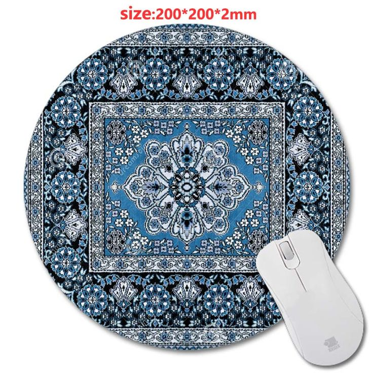 Carpet 3D print Circular rubber game mouse pad PC mputer Gaming Mousepad Fabric + Rubber Material - accessory and gift