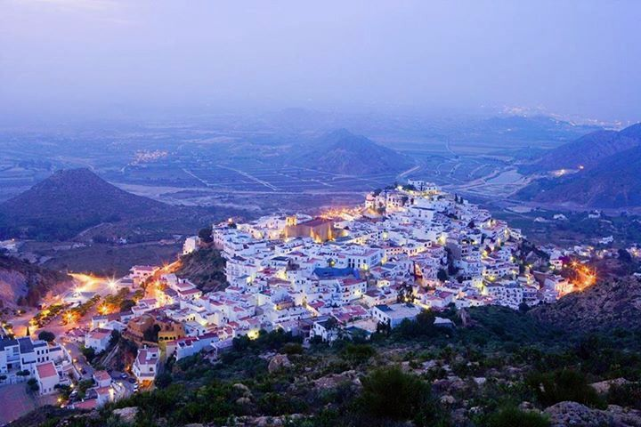 Mojacar Pueblo at dusk