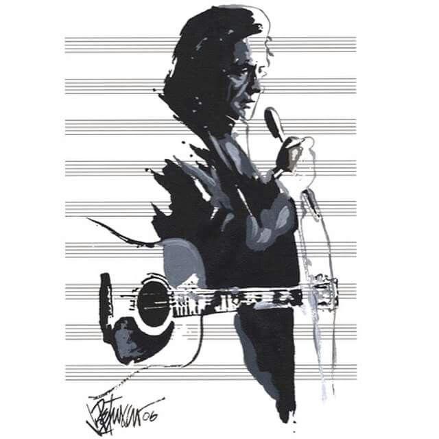 Johnny Cash by Joe Petruccio