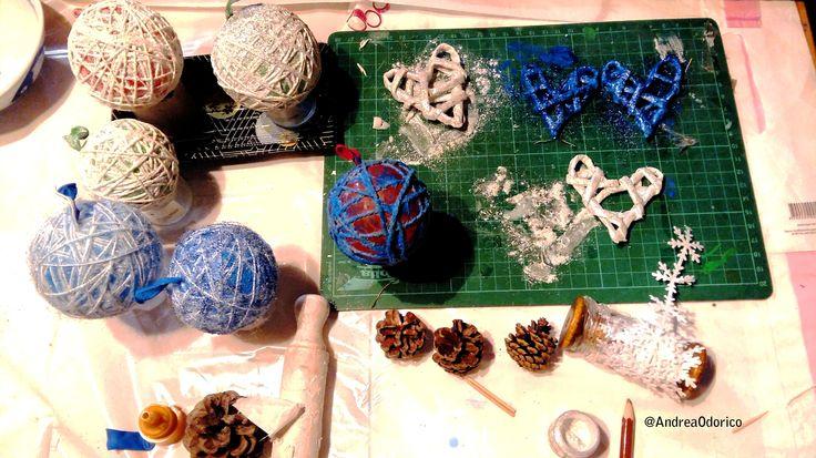 Palline e decorazioni natalizie. Diy christmas ball and decorations