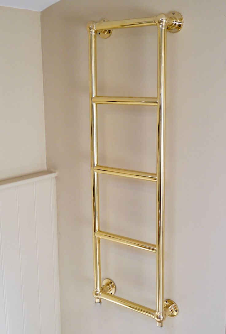 Oil filled electric towel rails for bathrooms - Brighton Wall Towel Rail In Hand Polished Brass Finish Towelrail Brassrail Heatedrail