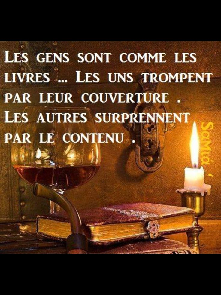 """""""People are like books... Some fool you by their cover, others surprise you by their inner pages."""" #french quote #citation #français"""
