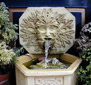 Green Man Wall Fountain