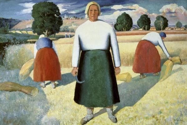 Female Farmers by Kazimir Malevich
