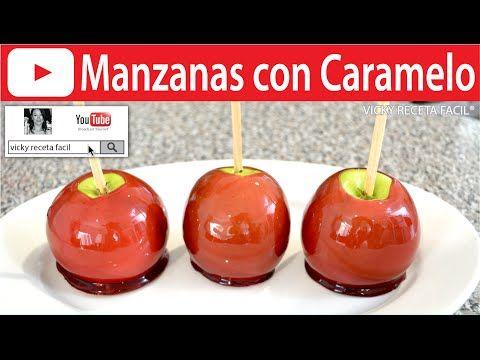 CÓMO HACER MANZANAS ACARAMELADAS O CON CARAMELO | Vicky Receta Facil - YouTube