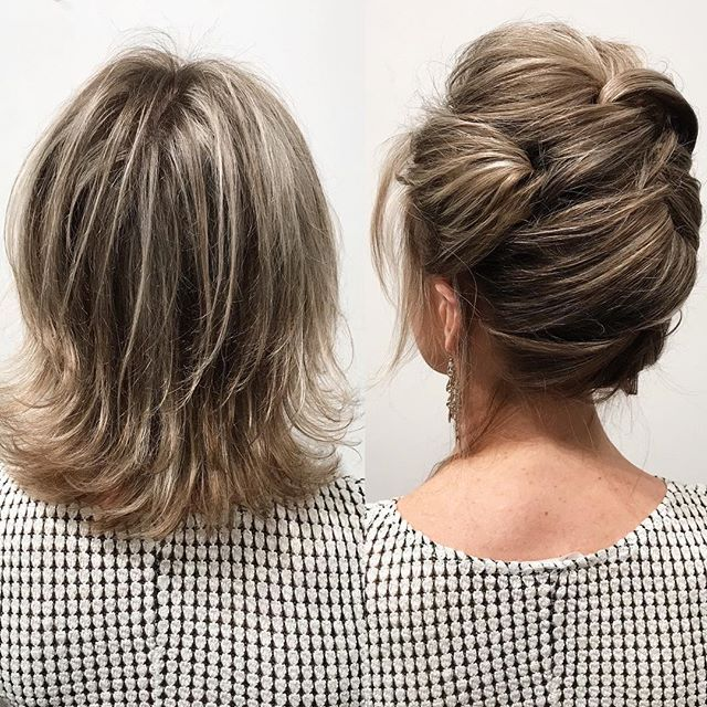 Short hair CAN go up!  Today I taught updo techniques to some of the best stylis…