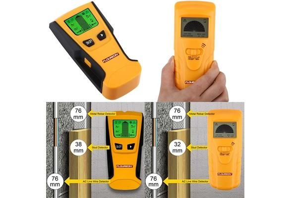 Floureon Multiscanner Center-Finding Stud Finder with Metal Detection and Live AC Wire Tracing (Color: Yellow & Black)
