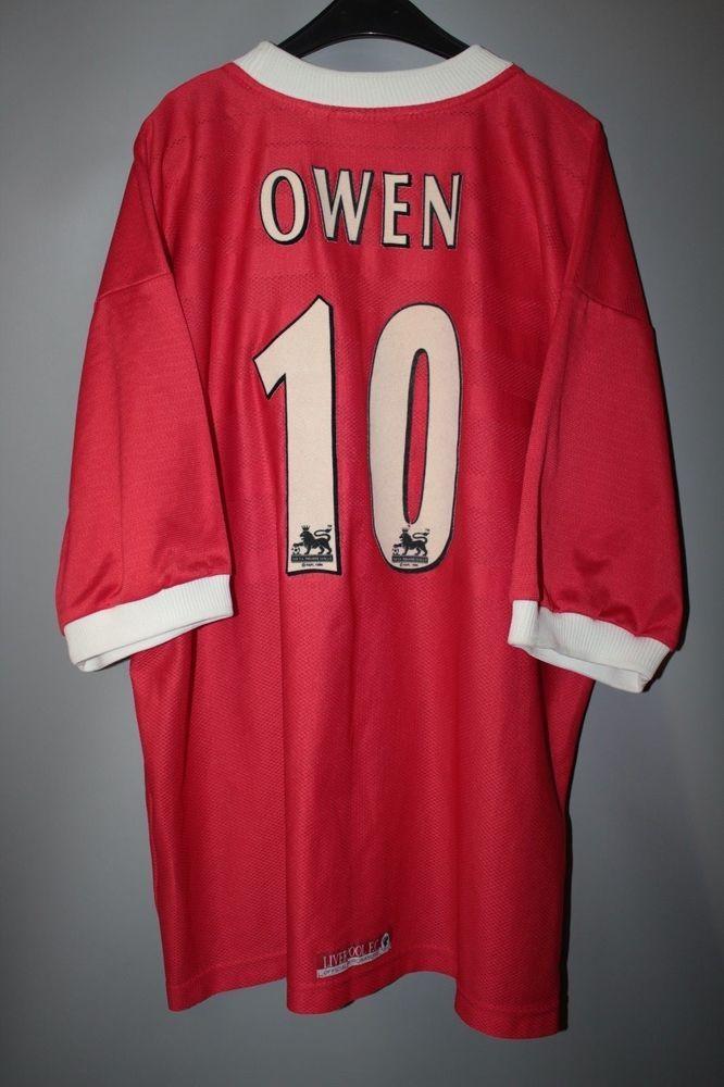 1b23ef8ab Liverpool england 1998 1999 2000 home footbal shirt jersey reebok owen  10