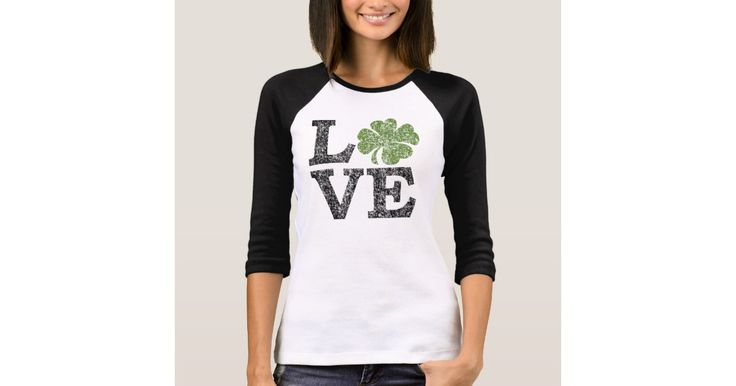 St Patricks Day LOVE with shamrock T-Shirt ttp://www.zazzle.ca/st_patricks_day_love_with_shamrock_t_shirt-235742769803713357?design.areas=%5Bzazzle_shirt_10x12_front%5D&social=true&view=113247261002214183