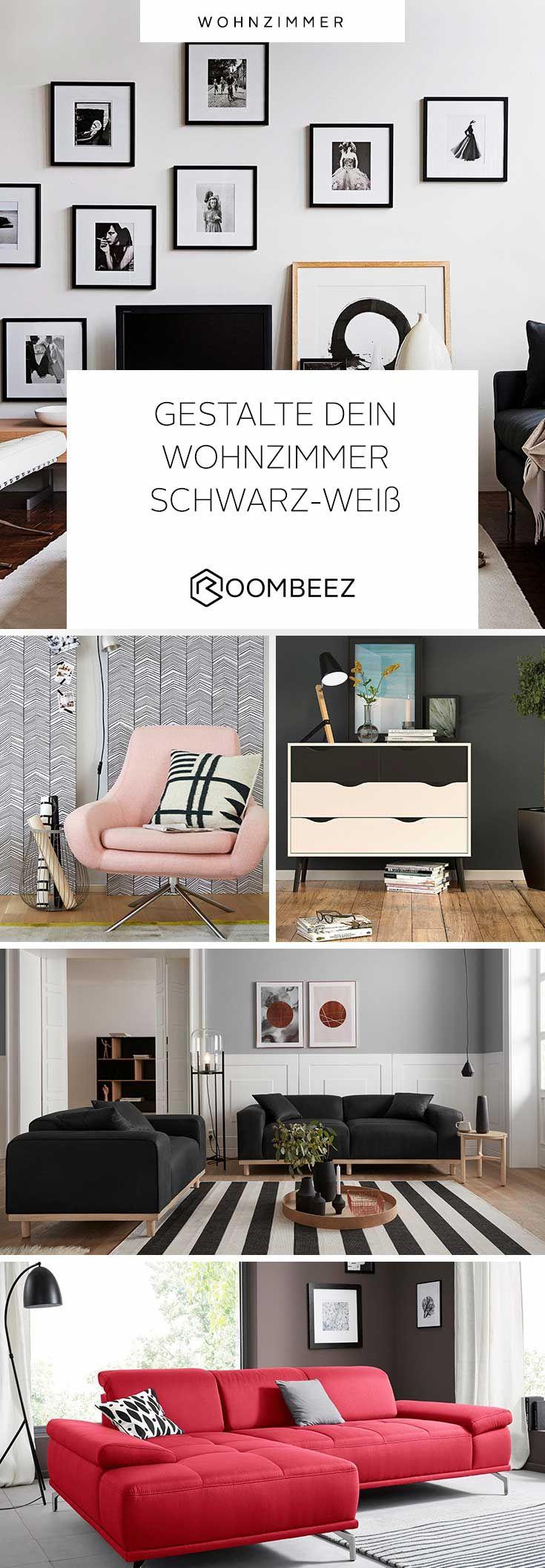 Wohnzimmer in Schwarz-Weiß » Einrichten mit Kontrasten ...