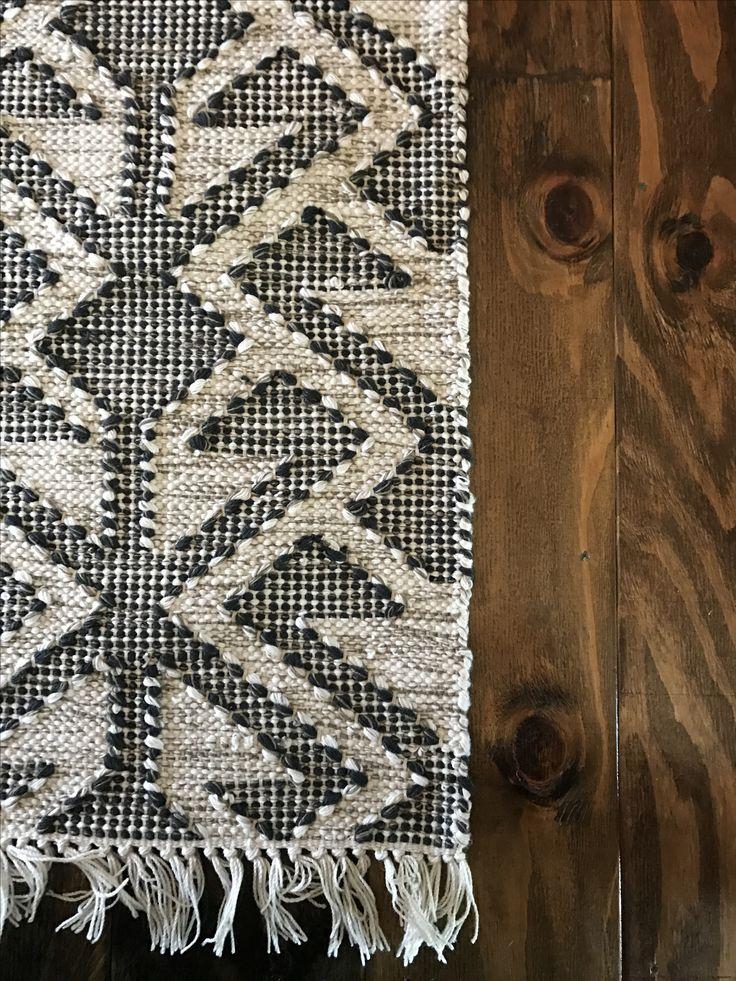 World Market Rug + Plywood Floors.
