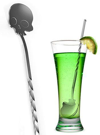 Bar Bones Skull Bar Spoon by Fred & Friends   Drinkware   PLASTICLAND http://www.skullclothing.net