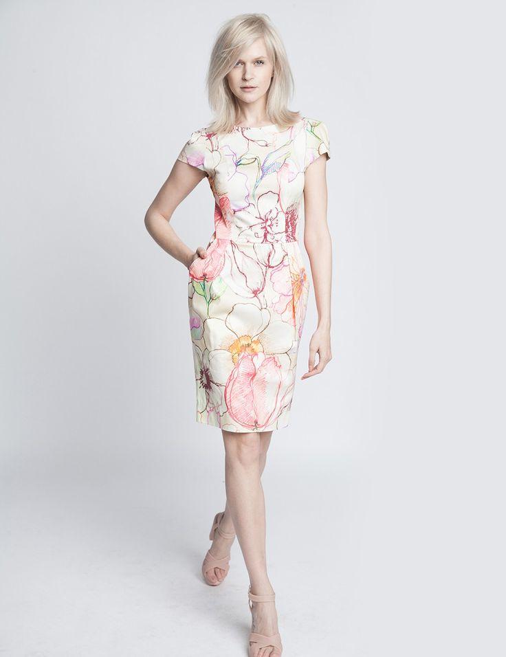 Sukienka kwiatowa Yuka | ECHO | SHOWROOM