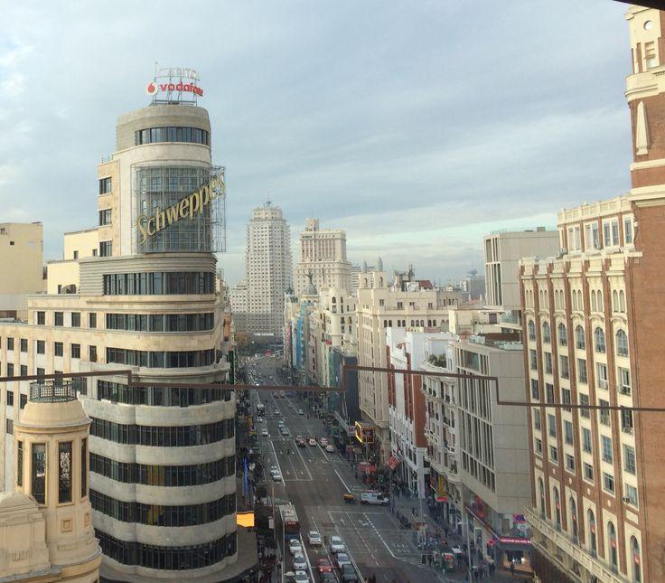 La Gran Vía, en Madrid