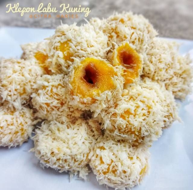 Klepon Labu Kuning Waluh By Citra Haries Resep Aneka Kue Enak Food Grains Rice