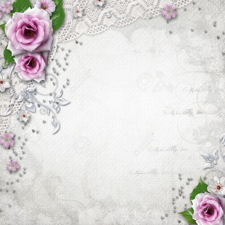 lavender lace background wedding - Wedding Invitation Border