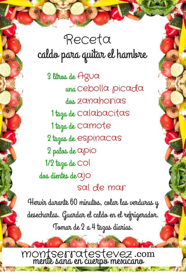 receta caldo para quitar el hambre del Dr. Oz  #Nutrición y #Salud YG > nutricionysaludyg.com