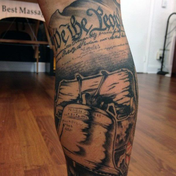 60 We The People Tattoo Designs For Men Constitution Ink