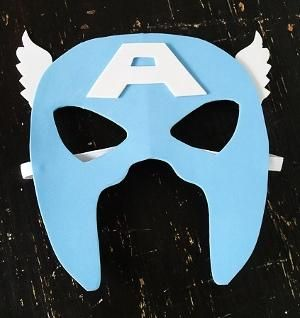 DIY Captain America Mask DIY Halloween - Visit to grab an amazing super hero shirt now on sale!