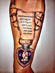 purple heart tatoos | billyinkslinger: Purple heart tattoo