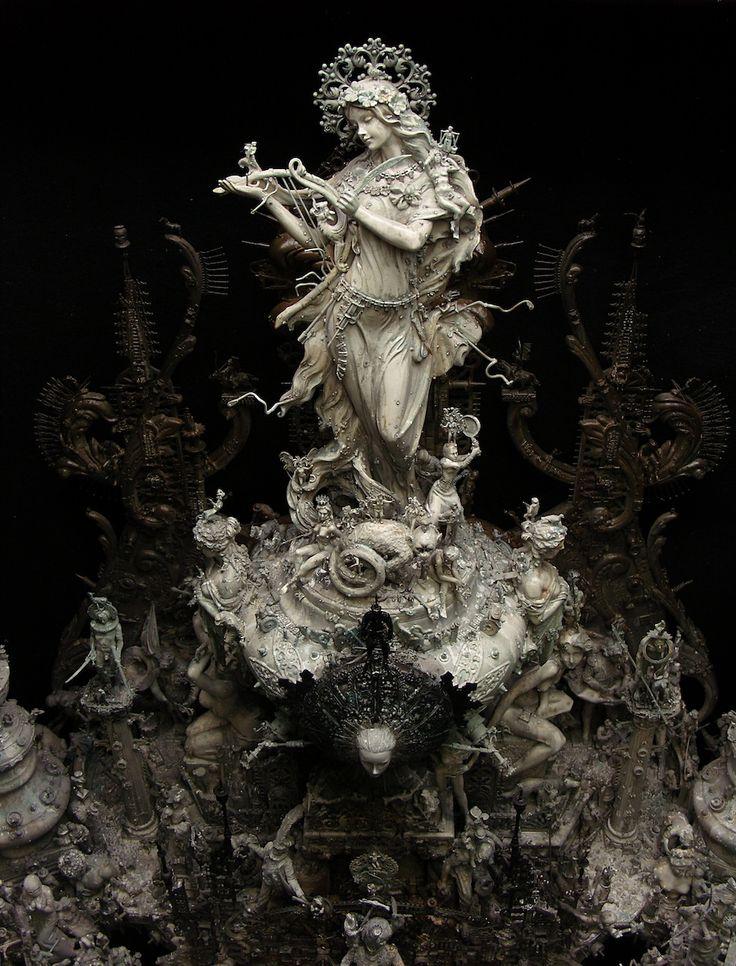 Kris Kuksi ornate baroque sculptures | Tekenen / Modellen ...