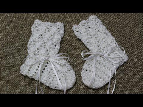 Calcetas o Botitas para Bebe Crochet - YouTube