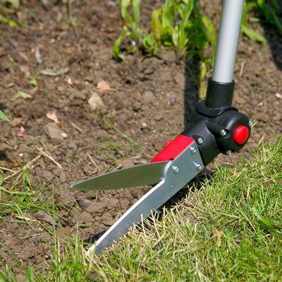 Deze 3 in 1 schaar is toepasbaar voor het gazon, de graskanten en de moeilijk bereikbare stukken.