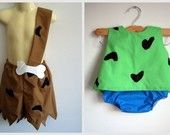 Pebbles and Bam Bam Costumes on Etsy for Hails and her little cousin JD!