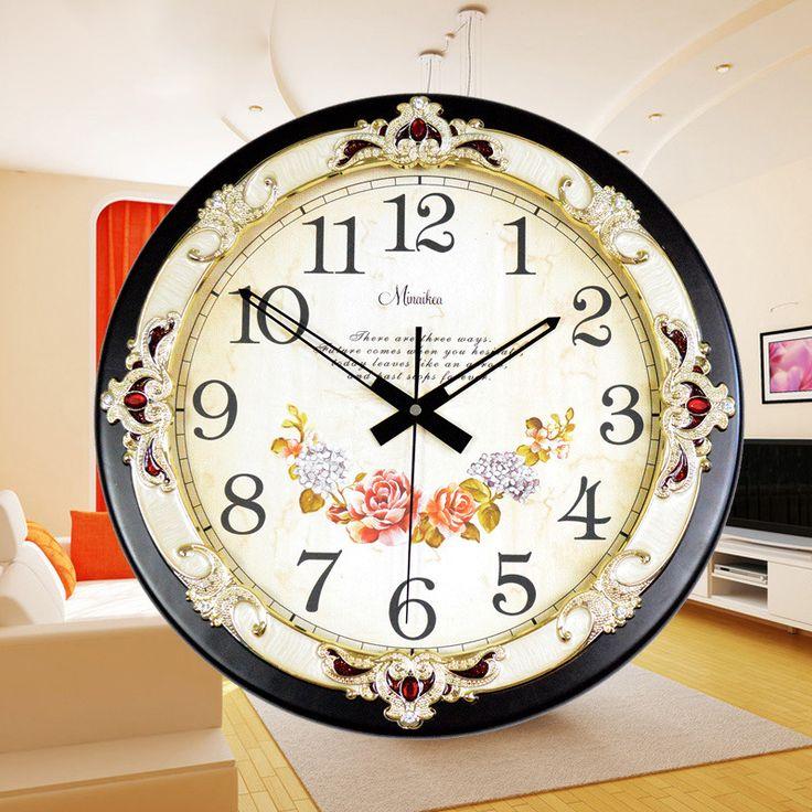Купить товарДомашнего декора европейский контракт мода негабаритных диск электронные часы кварцевые часы настенные часы в категории Настенные часына AliExpress.