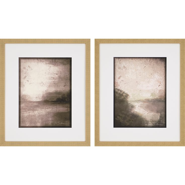 Paragon neutral dawn framed wall art set of 2 3949