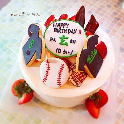ユニフォームのアイシング〜( ´ ▽ ` )ノ - 73件のもぐもぐ - 野球チームケーキ!バースディに。 by naruきっちん
